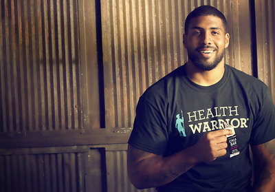 Houston Texans' running back Arian Foster has invested in Health Warrior chia seeds and bars as part of his fight against childhood obesity.  (PRNewsFoto/Health Warrior, Inc.)