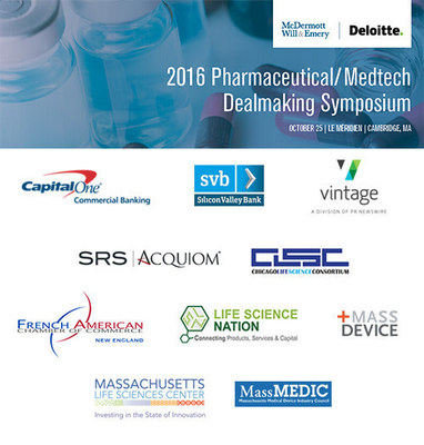 Vintage Showcases M&A Solutions at McDermott's 2016 Pharmaceutical/Medtech Dealmaking Symposium: October 25Premier networking event for dealmakers in Cambridge, Massachusetts