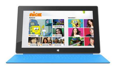Nickelodeon Releases App For Windows 8.  (PRNewsFoto/Nickelodeon)