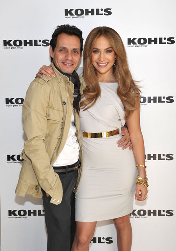 Jennifer Lopez & Marc Anthony Announce Plans to Launch Two Exclusive Lifestyle Brands at Kohl's Department Stores.  (PRNewsFoto/Kohl's Department Stores, John Shearer)