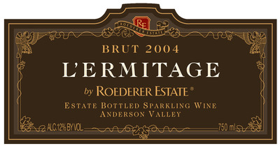 Roederer Estate L'Ermitage 2004 Named #1 on Wine Enthusiast Magazine's Top 100 List 2013. (PRNewsFoto/Maisons Marques & Domaines USA Inc.) (PRNewsFoto/MAISONS MARQUES & DOMAINES ...)