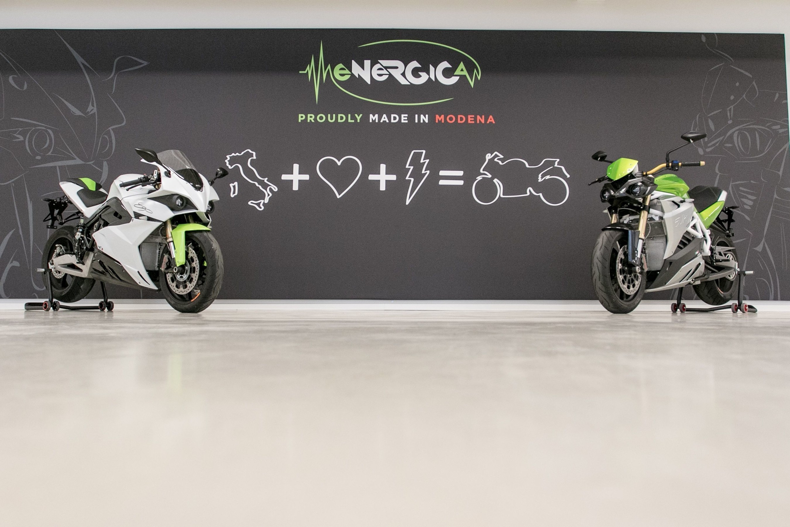 Energica Motorcycles inside the Italian flagship showroom