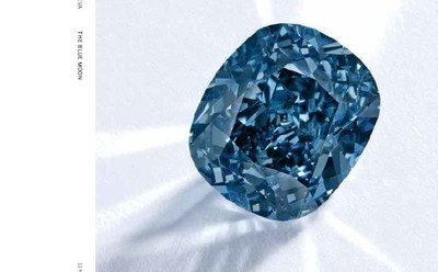 Dazzling Blue Moon Diamond sold by Cora International for $43.2 Million