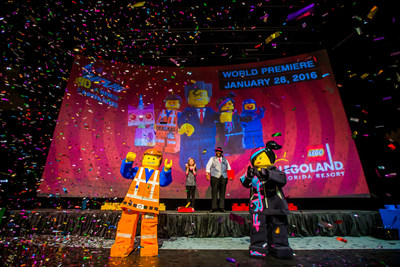 "Celebrities, media and VIPs gathered Jan. 28 at LEGOLAND(R) Florida Resort in Winter Haven, Fla., for the world premiere of ""The LEGO(R) Movie(TM) 4D A New Adventure."" A Hollywood-style gala built for kids celebrated the eagerly awaited debut of the brand-new attraction, which combines 3D computer animation, ""4D"" effects such as wind, water and fog, and the same sly humor that made the movie a worldwide blockbuster. The 12 ½-minute film opened to guests Jan. 29 and plays multiple times per day in the Florida theme park's Wells Fargo Fun Town Theater."