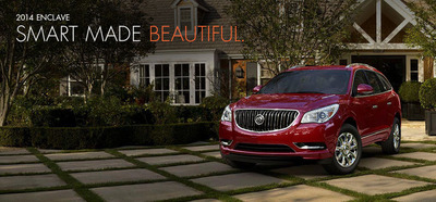 The 2014 Buick Enclave is equipped with a slew of luxury features.  (PRNewsFoto/Briggs Auto Group)