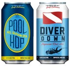 Pool Hop and Diver Down are available now in six-packs of 12-ounce cans and on draught in fine craft beer establishments throughout Florida.