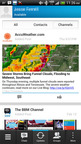 The new AccuWeather BBM Channel will offer a range of breaking weather information, including severe weather updates, breaking stories, local weather images, radar and more for BBM subscribers across mobile platforms.  (PRNewsFoto/AccuWeather)