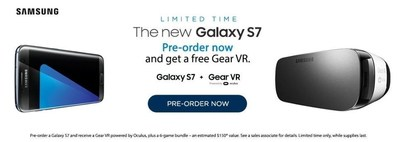 C Spire is taking customer pre-orders for the highly anticipated Samsung Galaxy S7 touchscreen smartphone.  The carrier plans to roll out the new phone later this month with a free Gear VR powered by Oculus and a bundle of virtual reality games from Samsung.