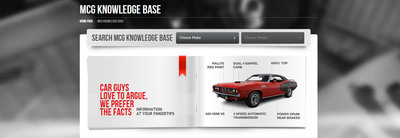 The MCG Knowledge Base offers the largest searchable collector car database on the internet and it's free for members to use. Claim your virtual garage today to become a member. www.myclassicgarage.com.  (PRNewsFoto/MyClassicGarage.com)