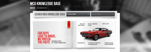 The MCG Knowledge Base offers the largest searchable collector car database on the internet and it's free ...