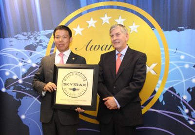 "Hainan Airlines Again Honored as ""Best Airline in China"" and ""Best Staff Service in China"" of 2012 SKYTRAX World Airline Awards.  (PRNewsFoto/Hainan Airlines)"