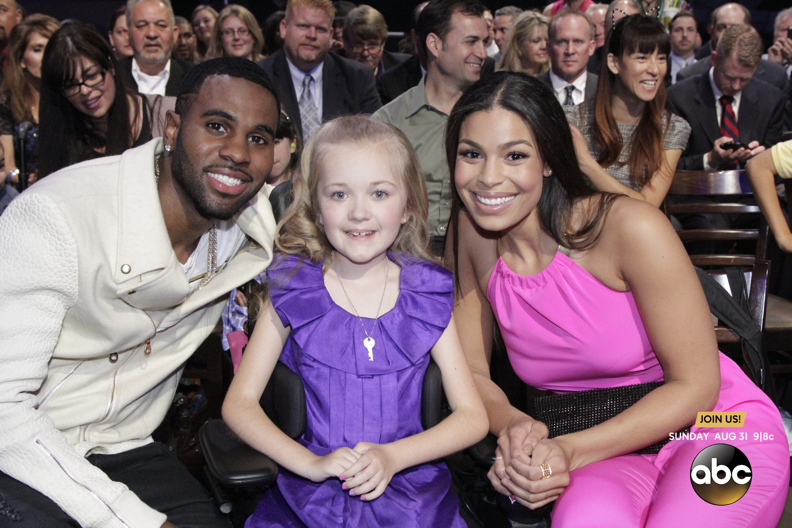 Pop star sweethearts Jordin Sparks and Jason Derulo took their support behind-the-scenes at the 2014 MDA Show of Strength Telethon to meet with children affected by muscle disease. (PRNewsFoto/Muscular Dystrophy Association)