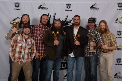 "Willie Robertson and the ""Buck Commander"" crew, winners of the Golden Moose Awards Fan Favorite Best Host on Outdoor Channel.(PRNewsFoto/Outdoor Channel)"