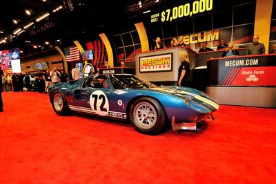 1964 Ford GT40 Prototype, GT/104 (Lot S147.1) sold for $7,000,000 at Mecum Houston Auction 2014. (PRNewsFoto/Mecum Auctions)