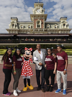 (L-R) Disney Dreamers Academy participants Kayla Hargis-White, of Burlington, N.J., Bianca Benett of Bronx, N.Y., Brandon Iverson of Atlanta, Ga., and Armani Young of Chicago, Ill., pose March 5, 2015 with Minnie Mouse and television personality Steve Harvey during Disney Dreamers Academy with Steve Harvey and ESSENCE Magazine at Magic Kingdom in Lake Buena Vista, Fla. The ninth annual event, taking place March 3-6, 2016 at Walt Disney World Resort, is a career-inspiration program for...