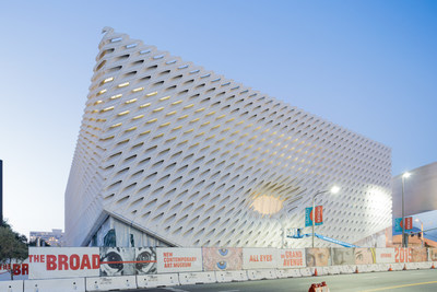 The Broad museum, under construction on Grand Avenue in downtown Los Angeles, 1/21/15. Photo (C) Iwan Baan