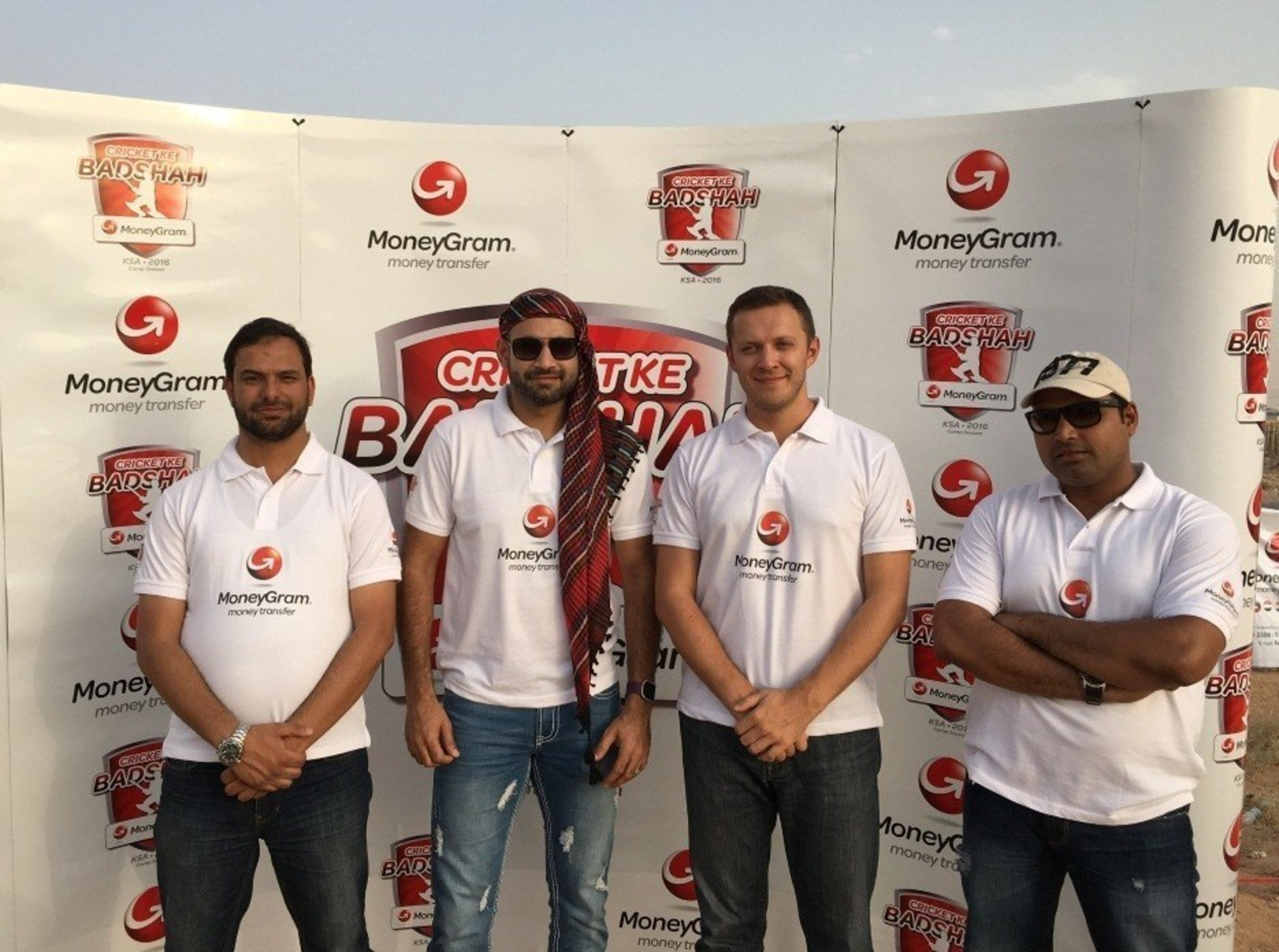 The legendary Indian cricketer Irfan Pathan (middle left) attended the MoneyGram Cricket Ke Badshah 2016 Finals