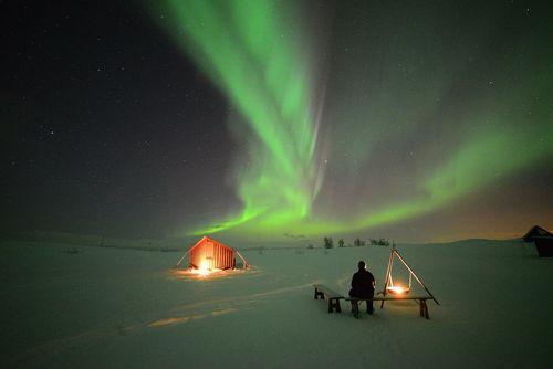 Aurora Village, Bjorkliden, Chad Blakley Lights Over Lapland (PRNewsFoto/Off the Map Travel)