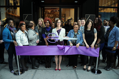 CEO Linda Heasley at the ribbon cutting for the new Lane Bryant 34th Street Flagship Store.  (PRNewsFoto/Lane Bryant)