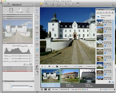 For SilverFast 8.5, the JobManager has been completely redesigned. The JobManager is a valuable tool for efficient batch processing. (PRNewsFoto/LaserSoft Imaging AG)