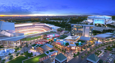 The $250 million first phase of Texas Live! will bring over 3,000 new jobs and 3 million new visitors to Arlington upon its opening in 2018.
