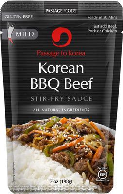 Korean BBQ Beef Simmer Sauce.  (PRNewsFoto/Passage Foods)