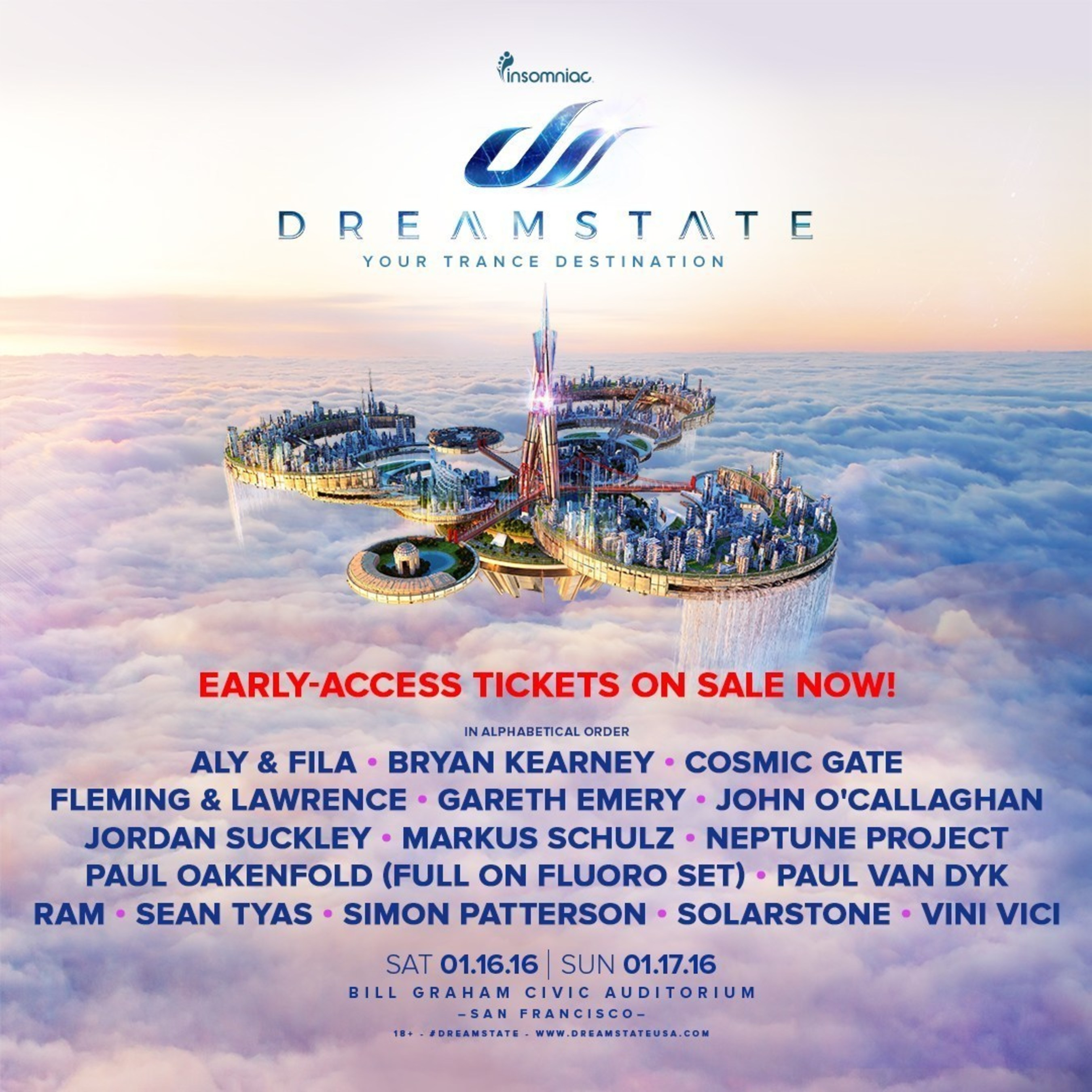 Dreamstate San Francisco Full Lineup Revealed