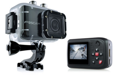 Foscam's AC1080 Action Camera - HD 1080P, 4x Zoom, 12MP Rapidshot, 170 degree Wide Angle, 1.5in LCD, Mic & amp: Speaker (196'/60m Waterproof) - www.foscam.us