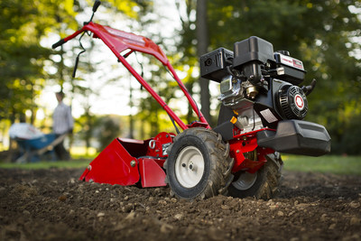 Troy-Bilt® introduces a brand new way to till your garden with the Bronco™ Axis™ vertical-tine tiller
