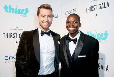 (photo courtesy of ThirstProject.Org) MENAJI Men's Skincare supported Lance Bass and Sibusiso Shiba backstage during the 7th Annual Thirst Gala at The Beverly Hilton Hotel on June 13, 2016 in Beverly Hills, California.