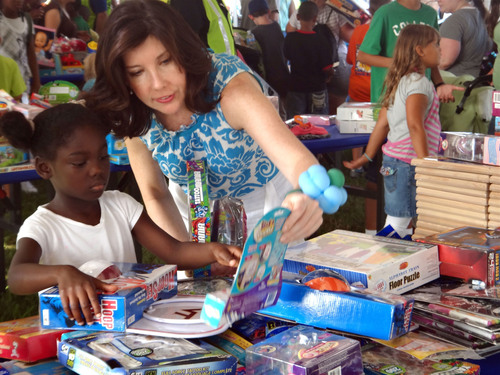 Thousands of children received new toys during the Toy Industry Foundation and Boys and Girls Club Military ...