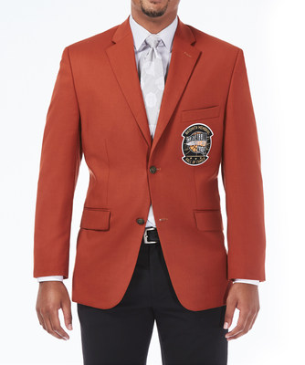 Haggar designed new signature jacket for inductees into the Naismith Memorial Basketball Hall of Fame made with Naismith Orange wool inspired by the basketball. The jacket replaces the black jacket of years past and reflects a number of enhancements to better represent excellence and achievement in the sport.