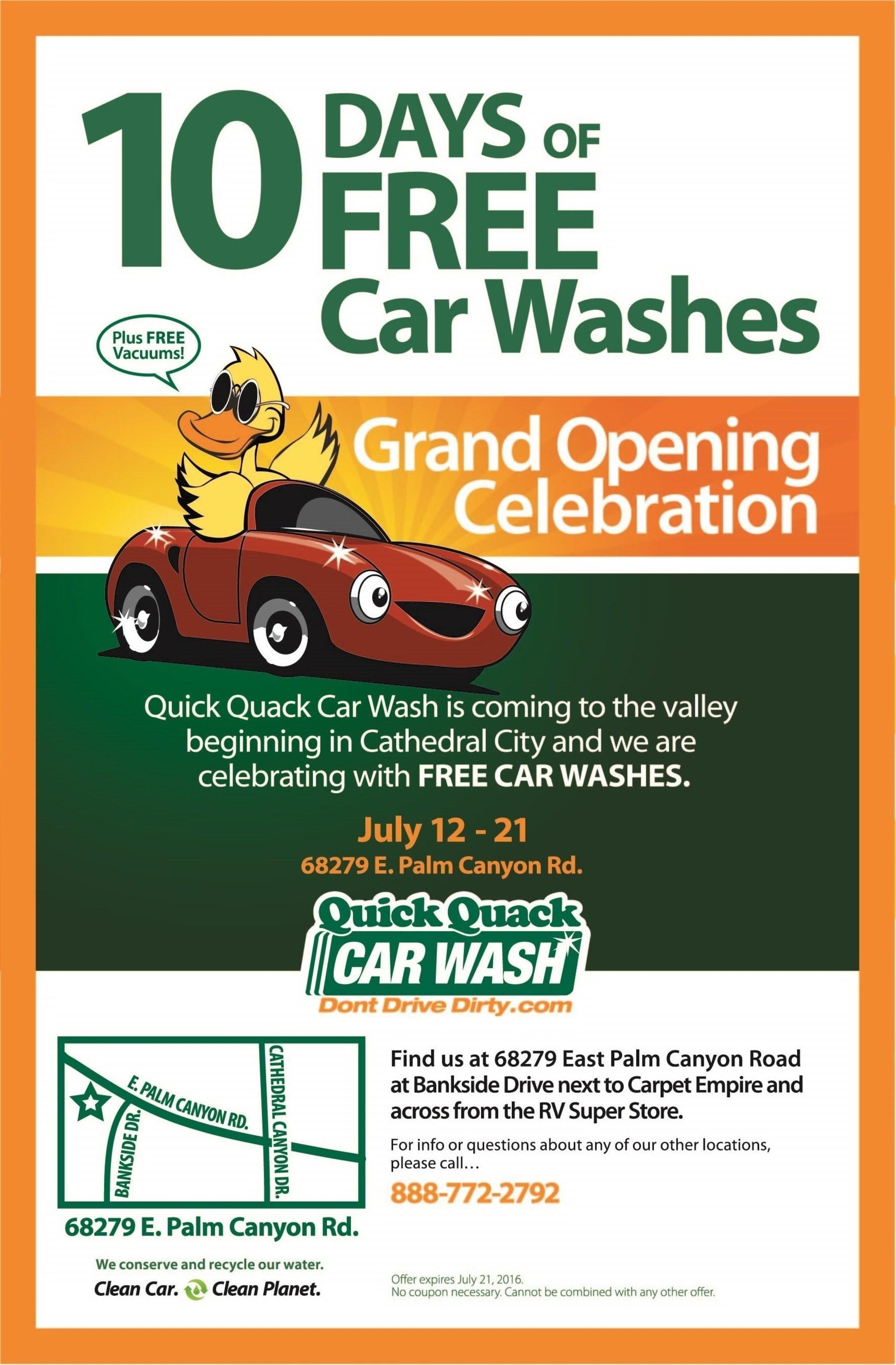 Quick Quack Car Wash Celebrates Cathedral City Location Acquisition
