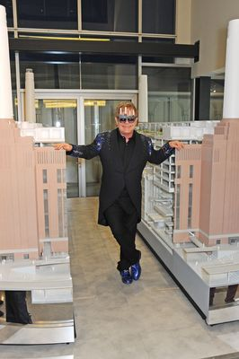 Elton John at Battersea Power Station Annual Party