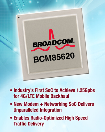 Broadcom Delivers Industry's First SoC to Achieve 1.25Gbps for 4G/LTE Microwave Backhaul