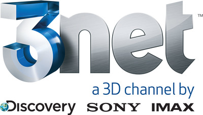3net, the 3D television network from Discovery Communications, Sony and IMAX. (PRNewsFoto/Discovery Communications)