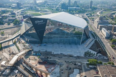 U.S. Bank Stadium is complete six weeks ahead of schedule.