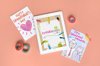 Creatacard(TM) iPad App from American Greetings Makes Grandparents Day Extra Special with Custom Cards from the Kids (PRNewsFoto/American Greetings Corporation)