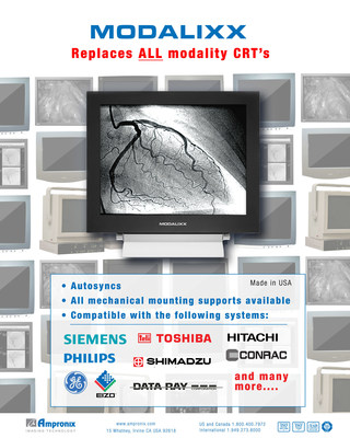 The (ANSWER) to AGING CRT Medical Displays Is MODALIXX by Ampronix