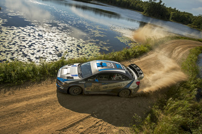 Subaru Rally Team USA driver David Higgins re-affirmed his dominance of American rallying with a faultless victory at the Ojibwe Forests Rally
