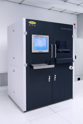 EV Group's SmartNIL(tm) large-area soft nanoimprint lithography (NIL) process for high-volume manufacturing is available on the company's newly available EVG(r)7200 automated UV-NIL system, pictured here.