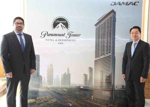 From left to right Mohammed Tahaineh, SVP - Commercial at DAMAC Properties and Yu Tao, President & CEO of CSCEC Middle East (PRNewsFoto/DAMAC Properties)