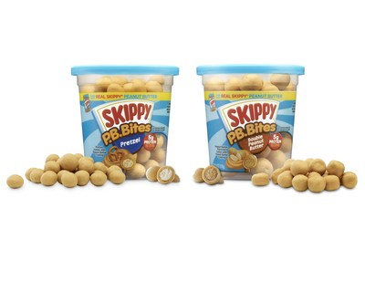 SKIPPY(R) P.B. Bites come in two delicious varieties - pretzel and double peanut butter - meeting both creamy and crunchy snacking preferences.