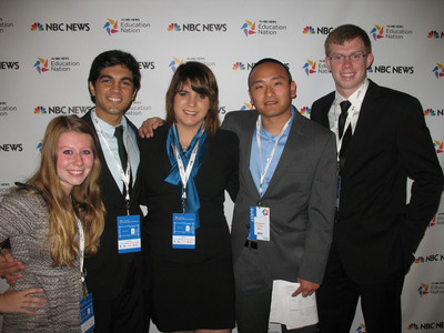 The Buick Achievers Scholarship Program, funded by the General Motors Foundation, announced scholarships totaling approximately $4.2 million to 1,100 recipients during the NBC News Education Nation Summit in New York City on Monday, Sept. 24, 2012.  (PRNewsFoto/General Motors)