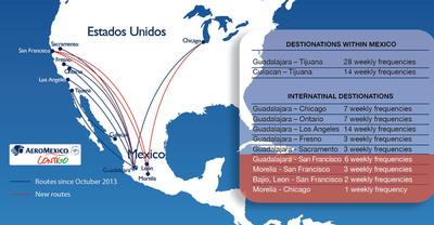 Aeromexico Contigo Map.  (PRNewsFoto/Aeromexico)