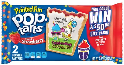 Limited Edition Printed Fun Pop-Tarts(R) Frosted Strawberry