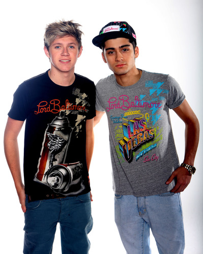 One Direction's Niall Horan and Zayn Malik discover Christian Audigier new brand: Lord Baltimore!  (PRNewsFoto/Baltimore Brands)