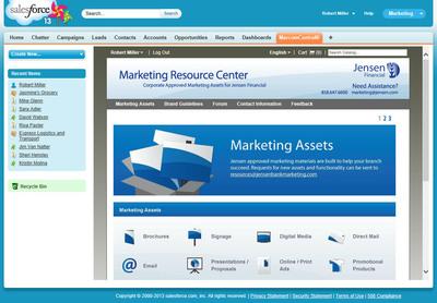 Salesforce app screenshot.