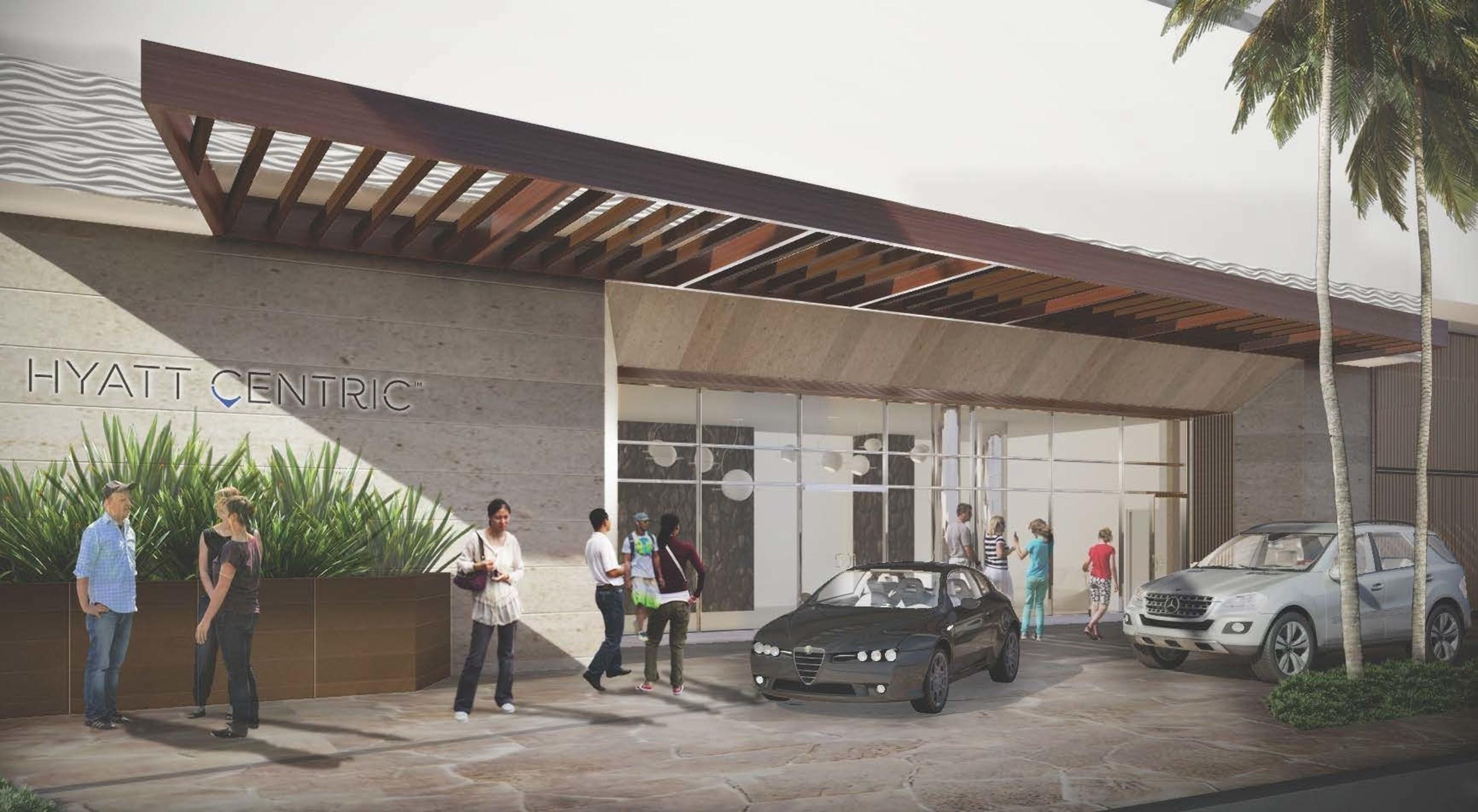 Hyatt Centric Waikīkī Beach lobby rendering