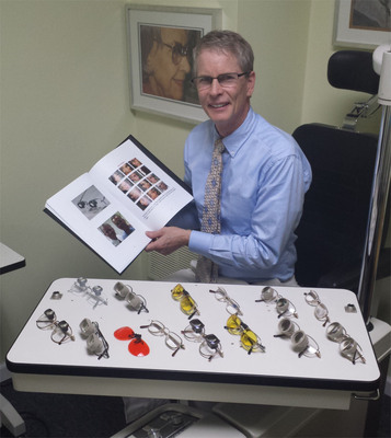 Dr. Randolph Kinkade, his new book, and eyeglass treatments for macular degeneration.  (PRNewsFoto/Low Vision Consulting)